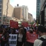 Забастовка работников сферы быстрого питания в США