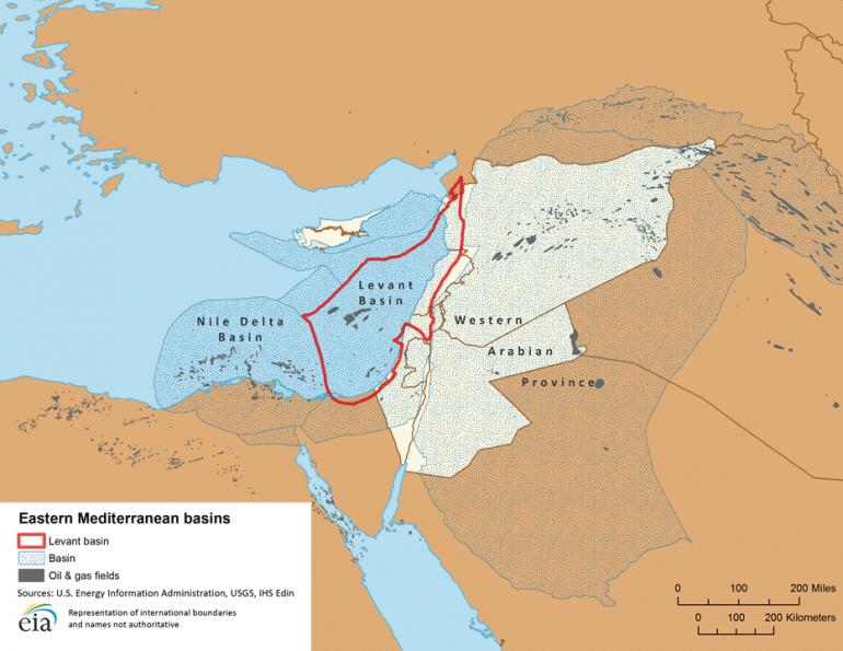 Основные нефтегазоносные провинции Востока Средиземноморья