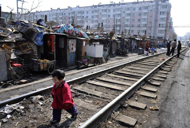 Фото март 2009 года, трущобы Шеньяна