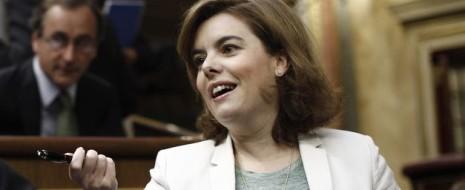 Вице-премьер Сорая Саэнс де Сантамария сегодня заявила, что Закон-декрет о срочных мерах для роста, конкурентоспособности и эффективности экономики принят с целью «сделать каждого испанца участником восстановления...
