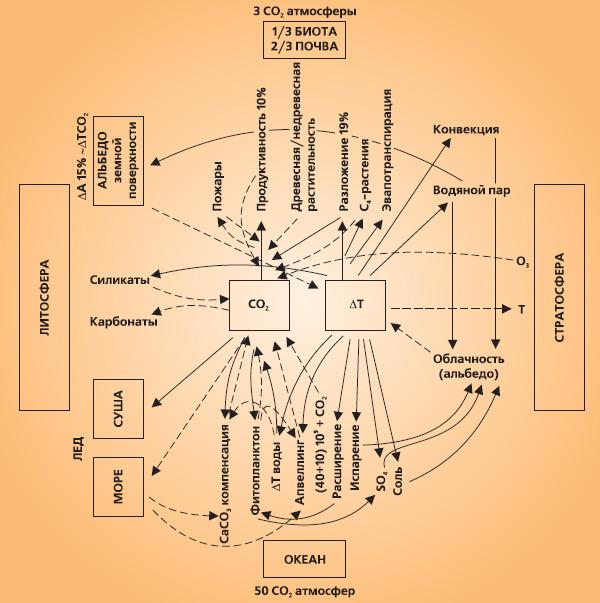 Рис. 4. Схема регуляции содержания атмосферной СО2. Изображение «Экология и жизнь»