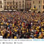 Тысячи человек вышли в Барселоне на площадь Сан-Жауме и в других городах Каталонии за референдум