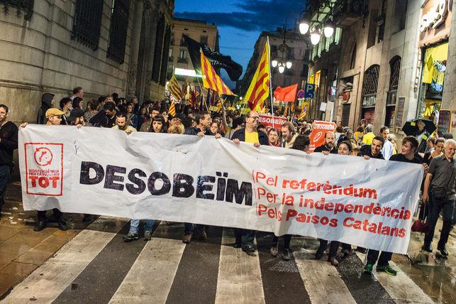 Блок левых сепаратистов на площади Сан-Жауме / Энрик Катала