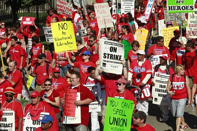 Забастовка учителей в Чикаго.