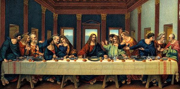 «Код да Винчи» основан по большому счёту на предположении, что на картине «Тайная вечеря» Леонардо фигура слева от Иисуса не Иоанн Богослов, а Мария Магдалина. (Изображение Bettmann / Corbis.)