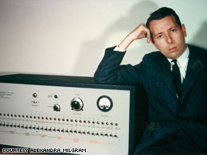 Stanley Milgram and his 'shock generator' machine