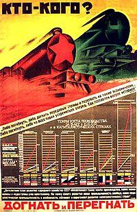 Плакат «Догнать и перегнать», 1926 г.