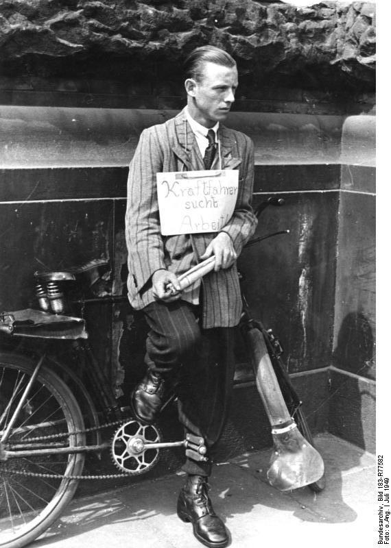 Безработный, 1949 г.