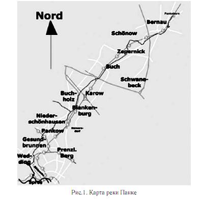 Рис.1. Карта реки Панке