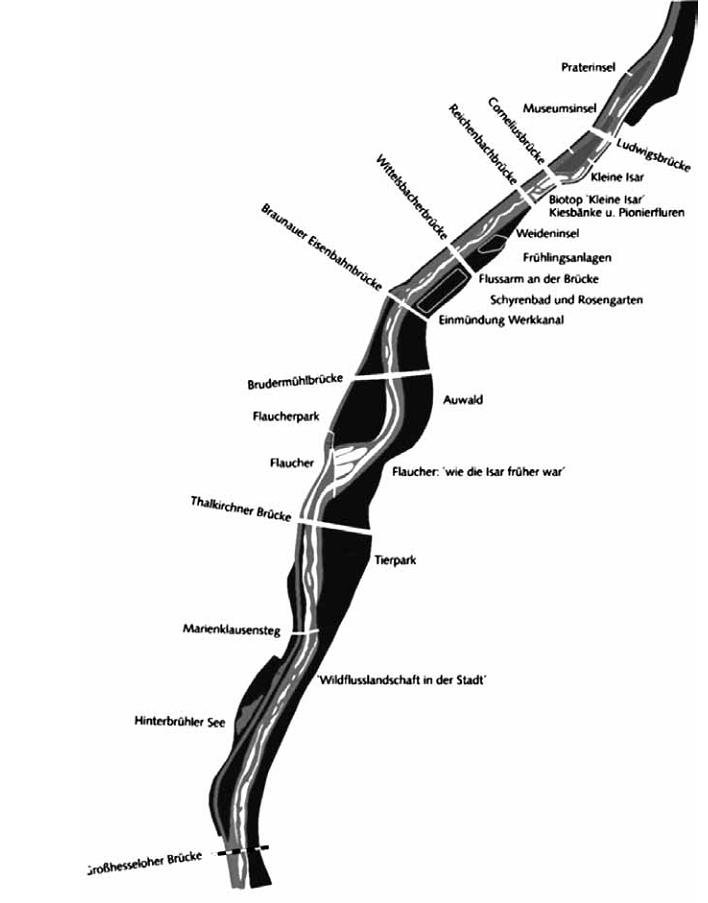Рис.4. Карта реки Isar