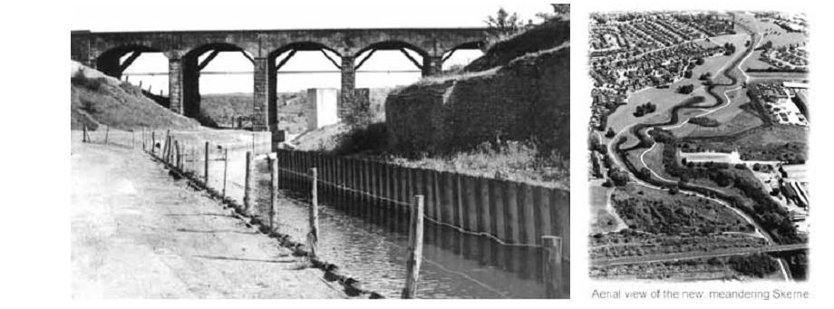 Рис. 9. Слева – река Skerne до реализации проекта ревитализации, справа – после ревитализации