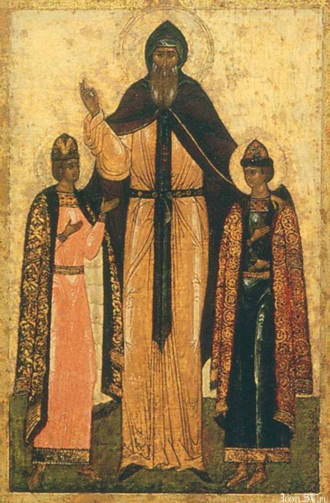 ещё икона св.Фёдора с сыновьями, уже как смоленского князя