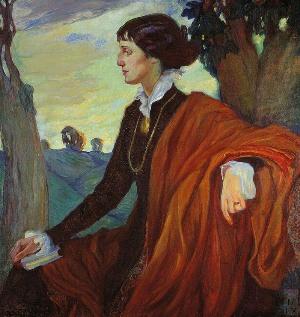 Портрет Анны Ахматовой, кисти О.Л.Делал-Вос-Кордовской