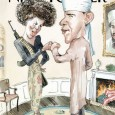 Мы рассказывали, как возник миф американских правых про «социалиста Обаму». Российская правая - национал-патриоты, клерикалы и черносотенцы, - культивируют миф: «в США безбожный (масонский, антихристианский) режим». А то и прямо репродуцируют про «мусульманина Обаму». Поэтому см. рассказ про христианство Обамы и других президентов США.