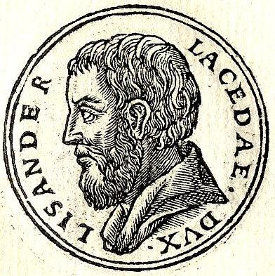 Спартанский наварх Лисандр, руководитель экстремистских сторонников олирахии в Афинах. Из сборника биографий Promptuarii Iconum Insigniorum (1553 год)