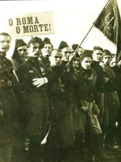 Родоначальники движения - итальянские чернорубашечники