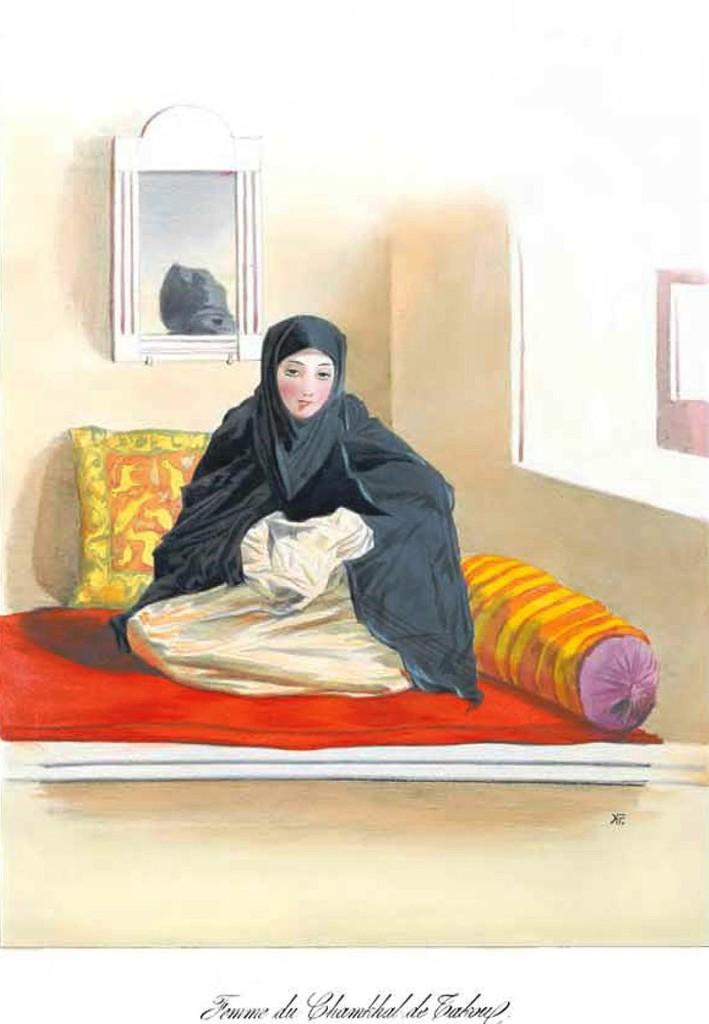 Жена тарковского шамхала (худ. Г. Г. Гагарин, 1845 г.)