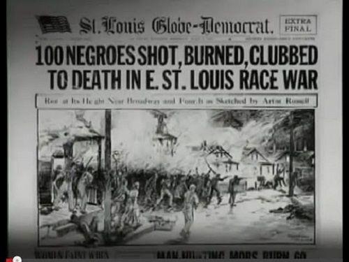 Сент-Луисская газета с сообщением о погроме