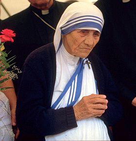 Мать Тереза в немецком городе Бонн, 1989 год