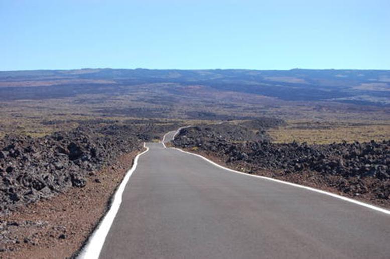 Дорога к обсерватории на Мауна Лоа. Большой Остров, Гавайи.