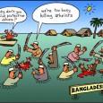 Попалась на глаза карикатура на исламистов в Бангладеш, которые вместо строительства дамб убивали атеистов и неверующих (или тех, кто, как исламистам показалось, издевался над религией). Текст к картинке был выразителен: «почему вы...
