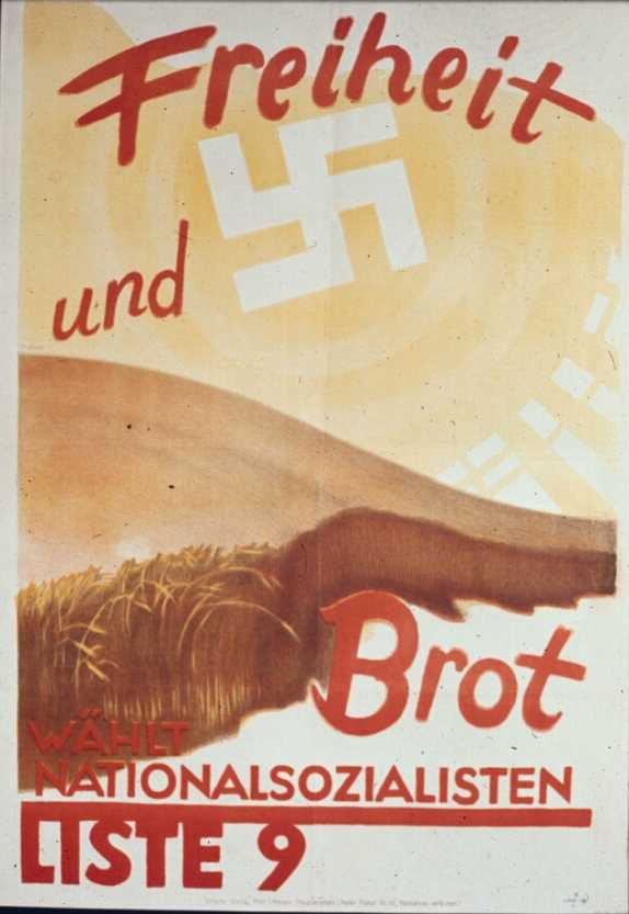 За хлеб и вольность, выбирай национал-социалистов