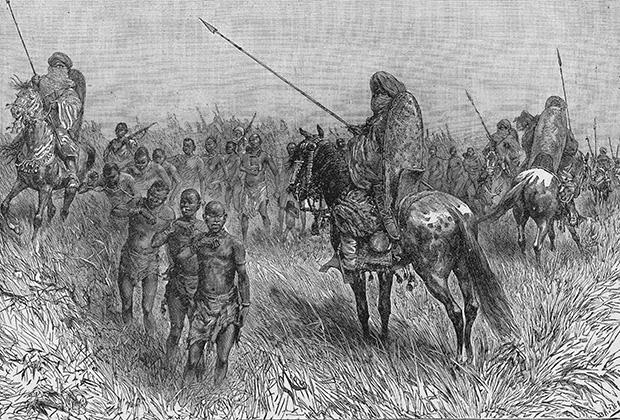 Арабские работорговцы. Рисунок конца XIX века