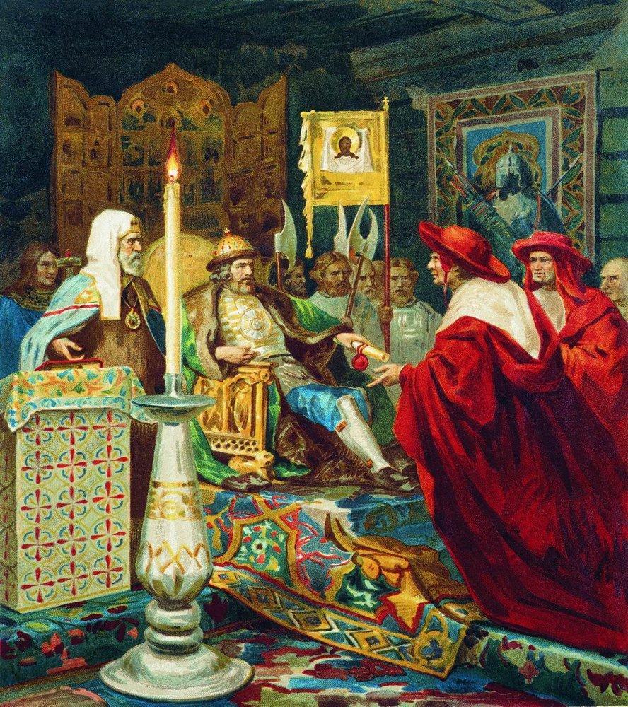 Генрих Семирадский, 1876. Александр Невский принимает папских легатов