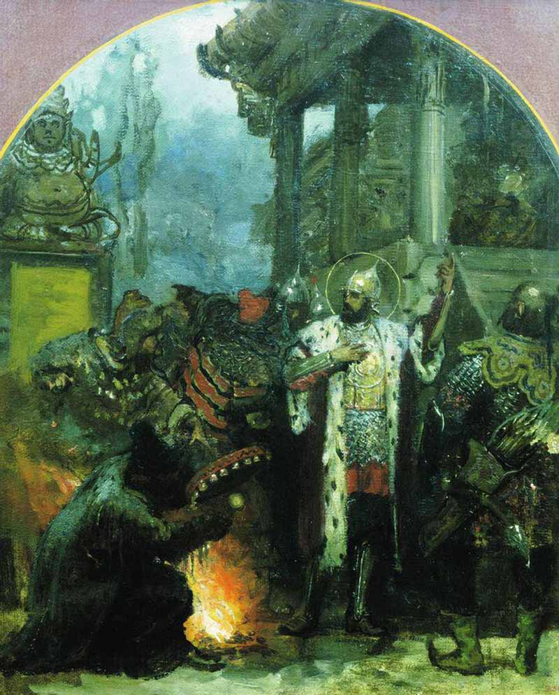 Генрих Семирадский, 1876. Александр Невский в Орде