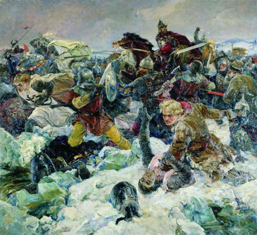 В.А.Серов. Ледовое побоище