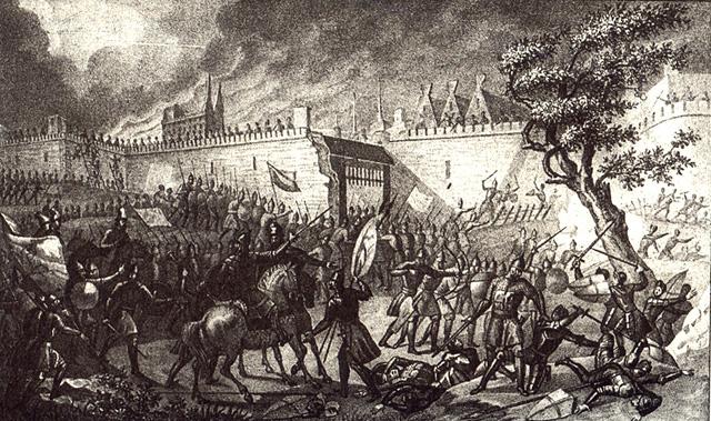 Взятие Нарвы Иваном Грозным. Б. А. Чориков, 1836