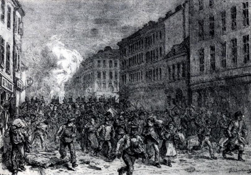 Разгон демонстрации в Вене, 1890 г.