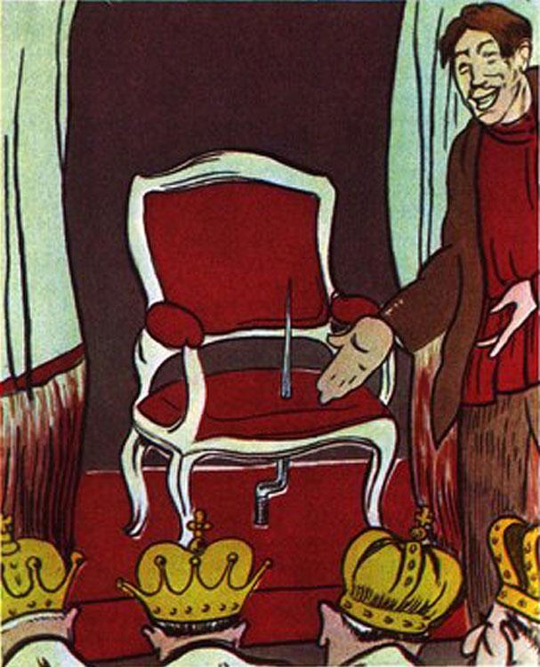 Карикатура «Не угодно ли присесть на престол?». 1917 г.