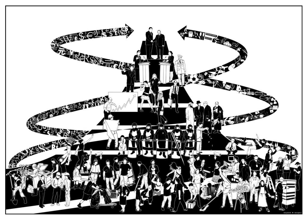 Социальная иерархия современного капитализма, исследованная в работах Крауса и Кельтнера