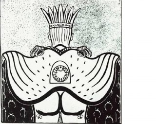 Что же увидит зритель, когда гордый орел будет перевернут? Седалище царя, высоко поднявшего мантию и наглядно показывающего, что он дал стране вместо Конституции