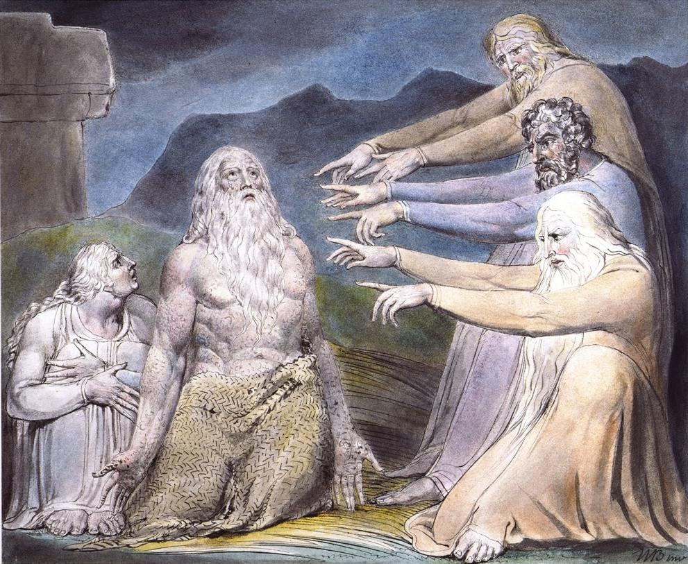 Друзья Иова порицают его. Иллюстрации У.Блейка