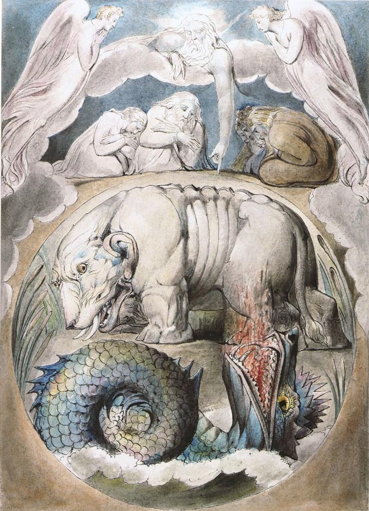 Бегемот и Левиафан. Иллюстрации Уильяма Блейка к книге Иова
