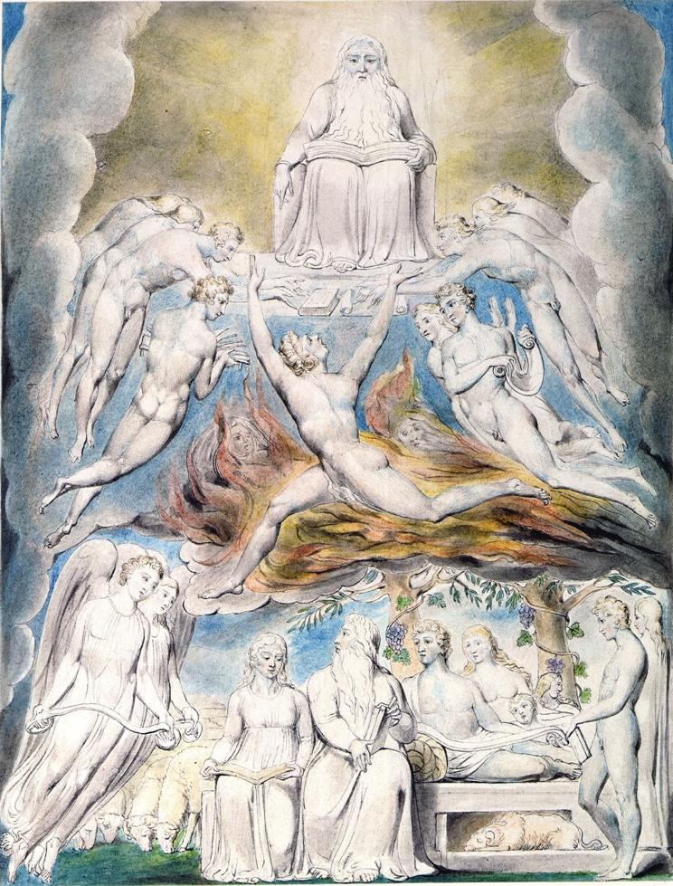 Сатана перед троном Господним. Иллюстрации Уильяма Блейка к книге Иова