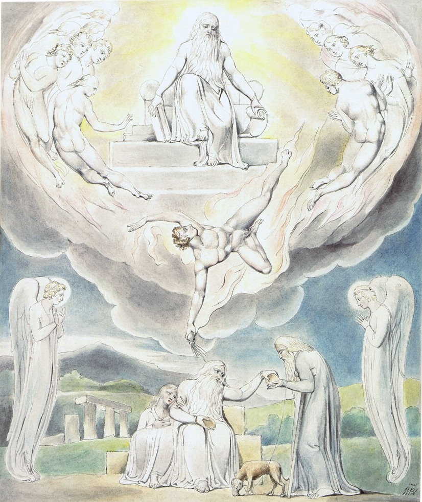 """И отошёл сатана от лица Господня"". Иллюстрации У.Блейка..."