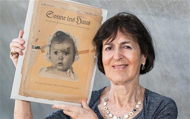 """Хесси Тафт, еврейка, ныне амерканский профессор химии. В 6 мес. была сфотографирована для нацистского конкурса """"Лучший арийский ребёнок"""", и пропаганда распространяла это как пример арийскиского совершенства. Её родители, талантливые певцы Якоб и Паулина Левенсоны, приехали в Берлин из Латвии в 1928-м."""