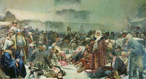 Клавдий Лебедев. Марфа Посадница. Уничтожение Новгородского веча. Здесь и дальше - картины, написанные под [токсичным] влиянием мифологии, анализируемой в статье