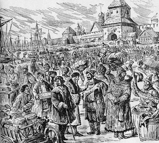 Новгородский торг. Е.Пергаментщик
