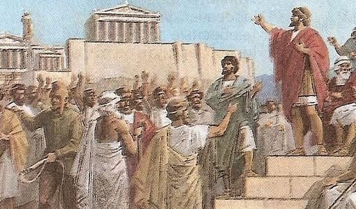 """Два примера, афинский и флорентийский, и теоретический анализ проблемы Маккиавелли показывают, что демократия, в каком бы """"круге"""" ни устанавливалась, держится на равенстве и падает с ростом неравенства. Притом что именно масса, а не элиты, оказывается лучшим..."""