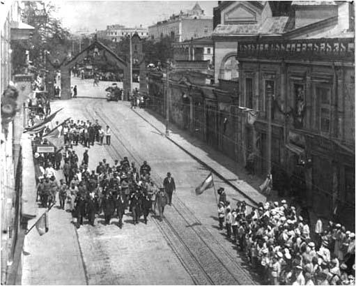 Лидеры 2го Интернационала в Тифлисе. 1920 г.