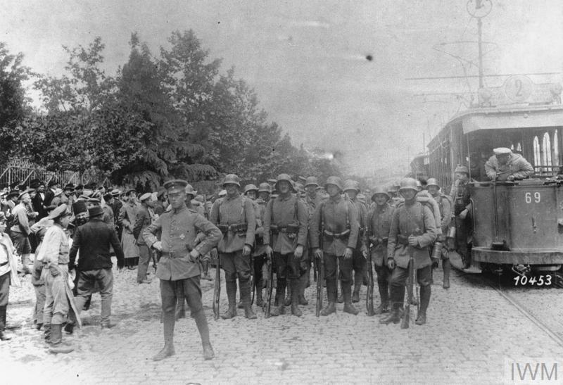 Немецкие войска на улицах Тифлиса. Май 1918 г.