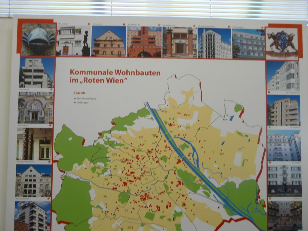 """Строительство жилья для рабочих в """"Красной Вене"""", с фасадами основных жилмассивов"""
