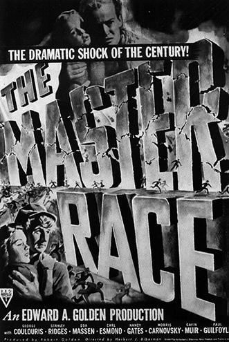 Плакат к фильму «Раса господ» (реж. Херберт Биберман, 1944), подозреваемому в пропаганде коммунизма
