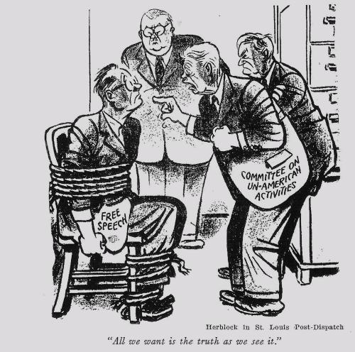 «Нам нужна только правда, как мы ее понимаем». Карикатура Херблока (Герберта Блока) в газете St. Louis Post-Dispatch, 1950