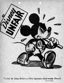 «Дисней нечестен». Листовка, напечатанная бастующими работниками студии Disney, 1941