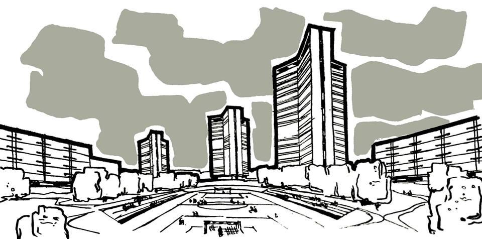 Проект застройки района Фили-Давыдково в Москве